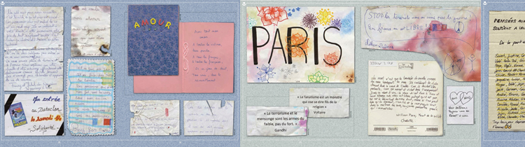 "Doubles pages de ""Je suis Paris"" / Ed. Michel Lafon"