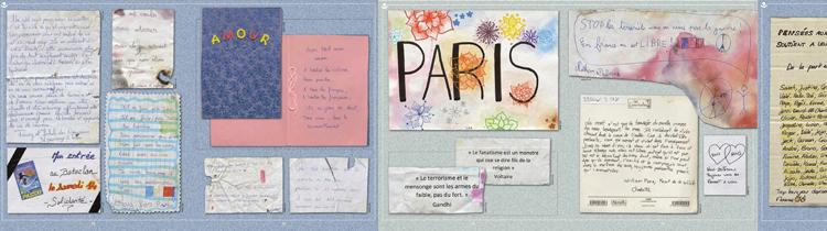 """Doubles pages de """"Je suis Paris"""" / Ed. Michel Lafon"""
