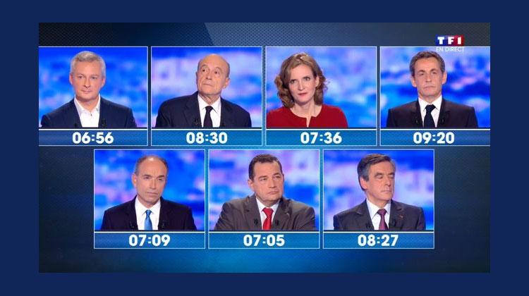 Les sept candidats ont détaillé leurs différents programmes © Capture d'écran TF1