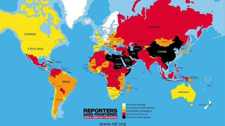 La liberté de la presse dans le monde ne 2017