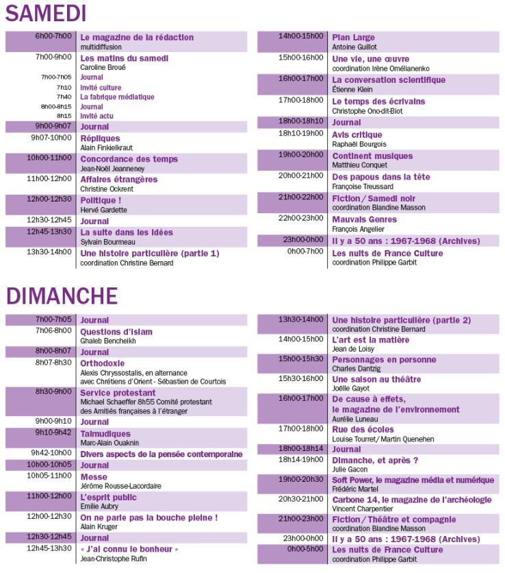 france-culture-week-end