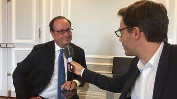 François Hollande interviewé par Yaël Goosz / Arthur Gerbault/Radio France