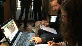 Un nouveau système de comptage pour évaluer l'affluence dans une manifestation © Radio France / Laurent Kramer
