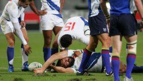 KO de Sébastien Chabal, coupe du monde de rugby en 2007 à Toulouse © Maxppp / Laurent Theillet
