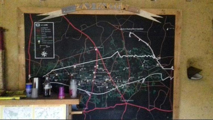 Plan de la ZAD de Notre-Dame-des-Landes• Crédits : Maïwenn Guiziou