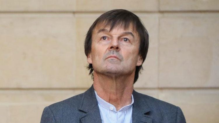 Le ministre de la Transition écologique et solidaire Nicolas Hulot, le 17 janvier 2018 à Paris. (MAXPPP)