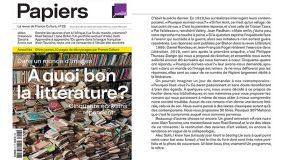 Papiers #28. A quoi bon la littérature ?